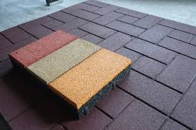 Attractive Rubber Floor Squares Patio Interlocking Rubber Floor