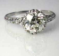 Vintage Diamond Solitaire Engagement Rings
