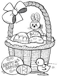 Printable Coloring Pages Happy Easter Free