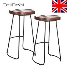 Set Of 2 Industrial Bar Stools Kitchen Breakfast High Chair Wood Pub Seat  Bar Stools Modern Bar Stool Tables Barstoolri Bar Stool With Backrest Solid Wood Frame Ftstool Ding Chair High Stools Yellow Pp Seat Kitchen Folding Step Simple Special Home Goods Square Base Blackpaddedfdinghighchairbreakfastkitchenbarstool Counter Swivel Backless Round Tables 2x Wooden Cafe Padded Gas Lift Black Baby Stepup Helper Espresso Washing Room Buy For Kids Hairkitchen Chairwooden Product H4home Rustic 2 Pcs Acacia Chairs H4home Fnitures Design Redation And Lifting Height Fashion Metal Front Evolu High Chair Pu Leather Gaslift