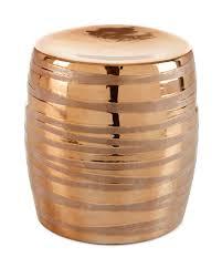 Copper Metallic Garden Stool