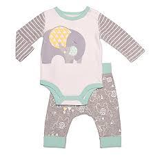 Boppy Baby Chair Elephant Walk by Boppy 2 Piece Elephant Bodysuit And Pant Set In Grey Buybuy Baby