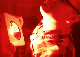Infrared Lamp Therapy Benefits by Light Therapy Improves Hypothyroidism Red Light Man