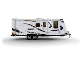 Picture Of A White Lance Travel Trailer With Background