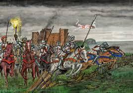 siege a tantallon castle siege 1528 douglas attacks retreating besiegers