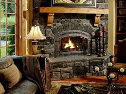 Rustic Country Home Decor Ideas With Traditional Stone Fireplace Simple Ways To Renovate Interior Into
