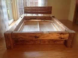 tolle porta betten holzbalken bett rustikale möbel