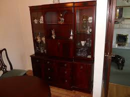 Mahogany Solid Wood Dining Living Room Display Cabinet In Wombwell