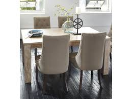 signature design by ashley mestler table with 4 upholstered side