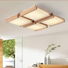 holz rechteckigen decke licht wohnzimmer restaurant licht einfache moderne halle holz log len massivholz decke len mz79