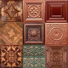Copper Tiles For Backsplash by Faux Copper Backsplash Cabinet Backsplash