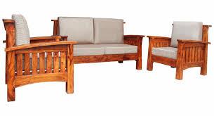 Solid Sheesham Wood Slatted Sofa