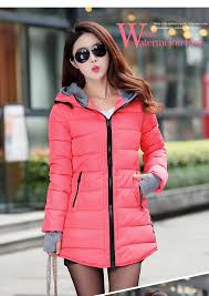 clothing female 2016 new women u0027s hooded winter jacket down cotton