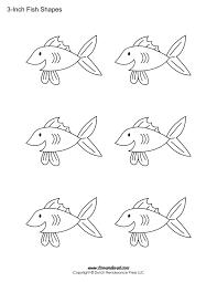 Adult Public Library Program Ideas Fish Fishfish Pattern Cut Out Extra Medium Size