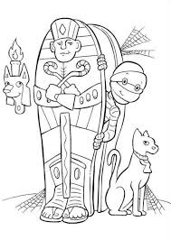 Halloween Coloring Pages Mummy