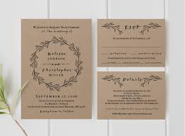 Etsy Rustic Wedding Invitations Best Of Printable Invitation Template Set