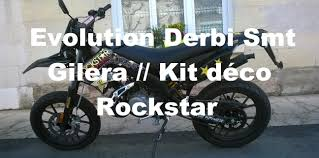 kit deco derbi senda xtreme evolution derbi smt gilera kit déco rockstar