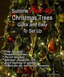 Pull Up Christmas Trees For Quick And Easy Setting
