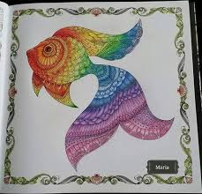 Lost Ocean Fish By Maria C Crowdey Johanna BasfordAdult ColoringColoring BooksMandala ColoringFish