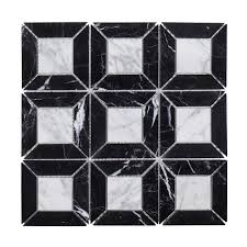 jeff lewis doheny 12 in x 12 in x 8 mm marble mosaic tile 98477