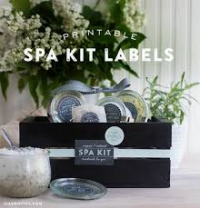 Printable Spa Kit Labels