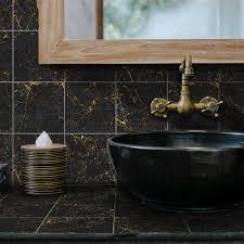 funlife schwarz und gold marmor wand aufkleber abnehmbare öl