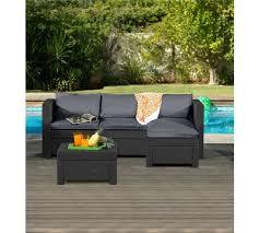 Keter Rattan Lounge Chairs buy keter rattan effect outdoor mini corner sofa graphite at