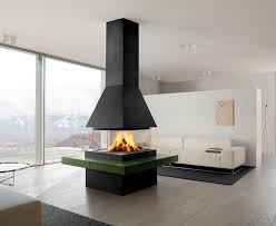 a contemporary and stylish home featuring a modern fireplace