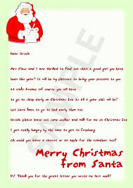 Santa Letter Template free printable christmas letter templates