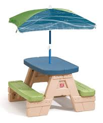 little tikes easy store junior picnic table with umbrella 47 99