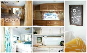 Fifth Wheel RV Remodel Before And After Photo Of Bedroom