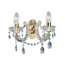 searchlight 699 2 therese 2 light polished brass wall light