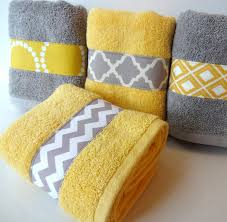 Decorative Hand Towel Sets by Yellow And Grey Bath Towels Yellow And Grey Idealpin