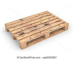 Wood Pallet On White Stock Illustration