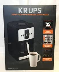Krups Savoy Coffee Maker Turbo Cup Programmable Model Black Stainless Steel