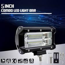 shop 36w 72w 2pcs 5inch flood led light bar offroad pods