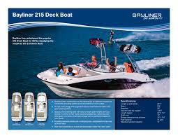 Bayliner 190 Deck Boat by 215 Deck Boat Bayliner Pdf Catalogues Documentation
