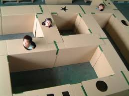 Cardboard Boxes Lots Of A Labyrinth They Will Remember For Long Time