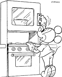 Kitchen Coloring Pages 13 Page Free Printable Dollhouses And On