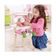 chaise pour bébé jouets hape chaise haute bébé poupée ekobutiks l ma boutique