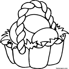 Easter Basket Coloring Pages For Kids Printable