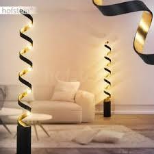 details zu led wohn schlaf zimmer raum beleuchtung schwarz gold boden stand steh lese le