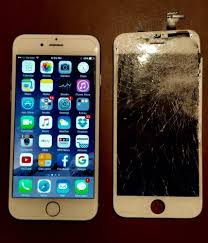iPhone 6 before and after with tempered glass installed on the new