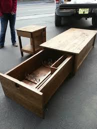 coffee table with locking gun safe by hoss12992 lumberjocks