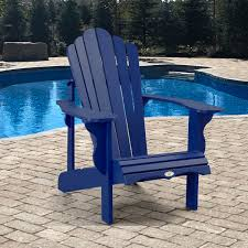 Navy Blue Adirondack Chairs Plastic by Adirondack Chair By Leisure Line