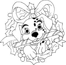 Coloriage 101 Dalmatiens Noel à Imprimer Sur COLORIAGES Info