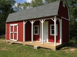 this 12x24 barn shed with porch is huge with a big spacious loft