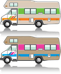 Download Vintage RV Stock Illustration Of American