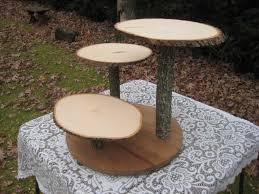 Rustic Wedding Cake Stand Photo