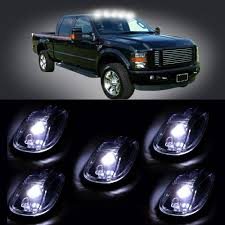 5pc Clear White Top Roof LED SUV Lights Truck Off Road Cab Pickup ... Ford Issues Recalls For F150 Due To Brake Light And Seat 10ft 14ft Lighting Mega Grip Truck Package Cinegear Custom Lights Youtube Backup Auxiliary Lighting Kit Installation Fits All Truck A Brilliant Dealer Just Brought The Lightning Back Kenworth Semi Showing Lights Semitruckgallerycom Led Denton Lewisville Tx Truxx Outfitters Amazoncom Bed Derlson Rail Lightscar 1418 Chevrolet Silverado Xb Tail Complete Housings Mobile Power And Commercial Fleet Accsories Transform Are Bed Lighting For Those Who Work From Dawn Dusk 201518 Running Board Premium F150ledscom